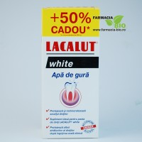 Apa de gura Lacalut White 300ml plus cadou 150ml - Lacalut