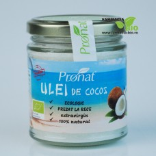 Ulei de cocos extravirgin si ecologic 200ml - Pronat